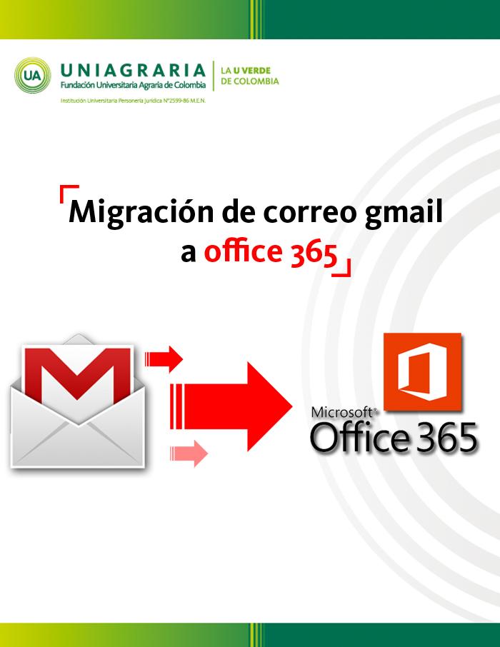 Migración de correo gmail a office 365