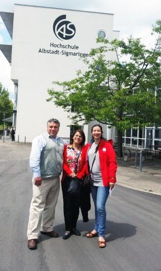 En la foto: Visita a la universidad Albstadt Sigmaringen (presentación de la Transfer Factory), junto con Docente Chileno y Docente Peruana