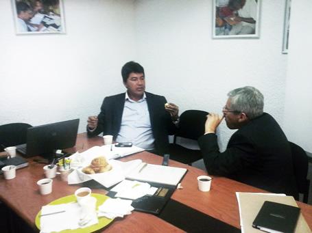 El Alcalde de Guaduas, Cundinamarca  visitó las instalaciones de Uniagraria