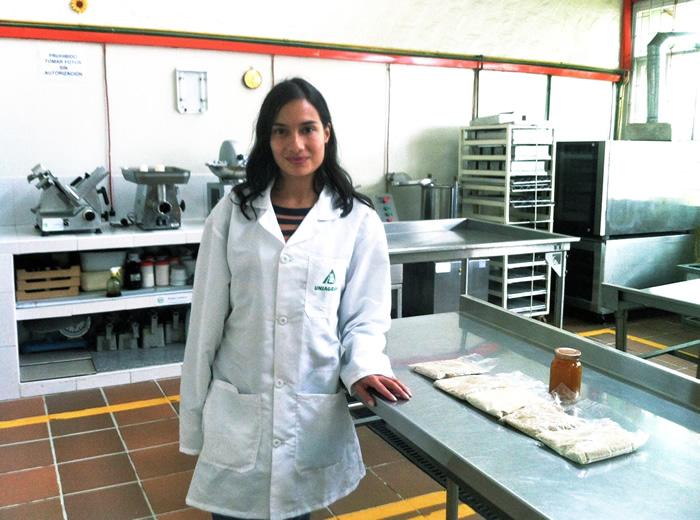 Loredana Iuliano, estudiante internacional uniagrarista proveniente de Suiza se encuentra apoyando el desarrollo del Proyecto de Quinua.