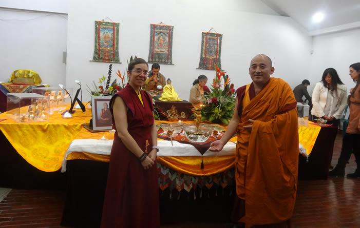 Inauguración Tour de las reliquias del buda visitan a Uniagraria en Colombia