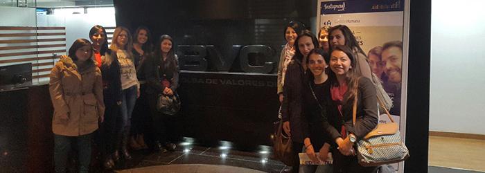 Estudiantes de UNIAGRARIA visitan la Bolsa de Valores de Colombia