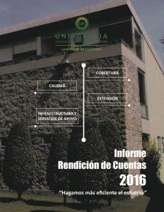 Informe de rendición de cuentas 2016