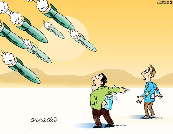Caricatura del costarricense Arcadio Esquivel