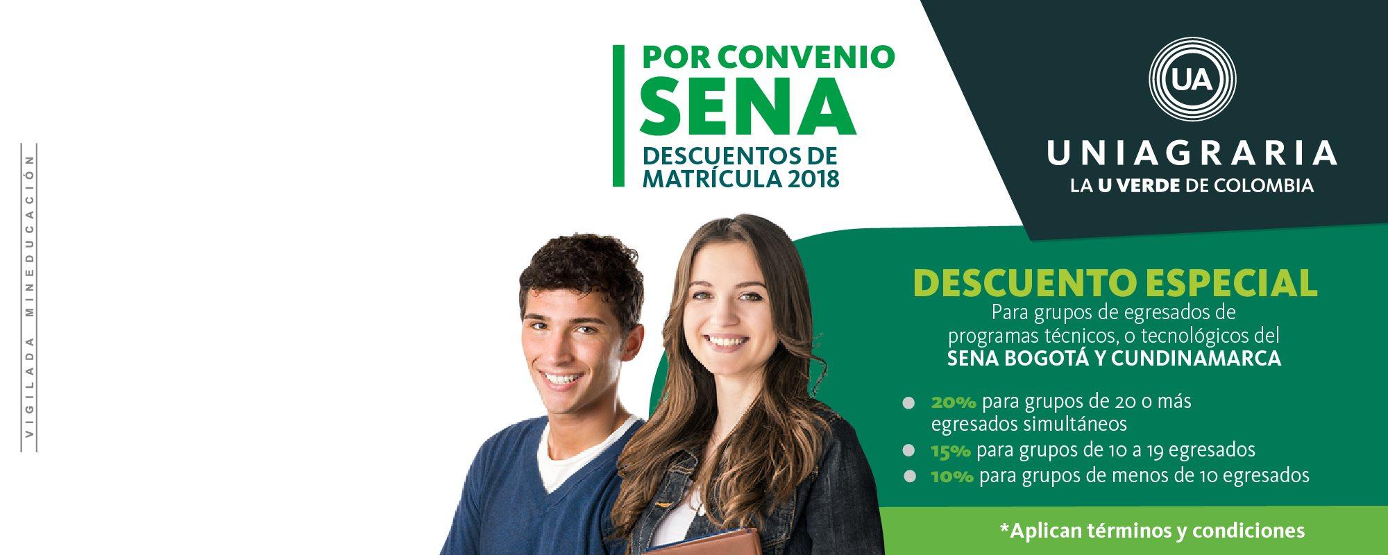Descuentos de matrícula 2018 – Convenio SENA