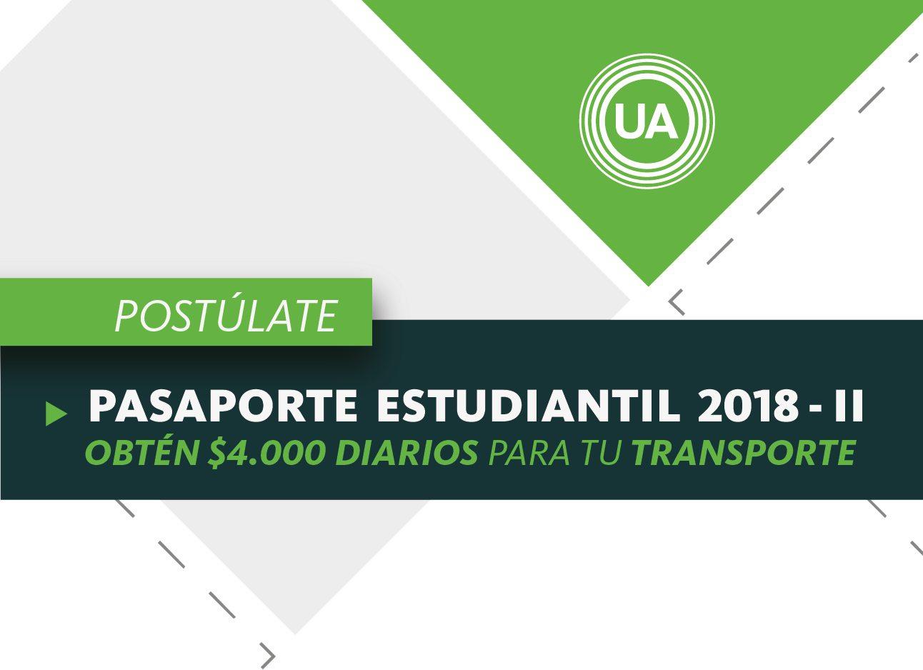 Pasaporte estudiantil 2018-II (Facatativá)