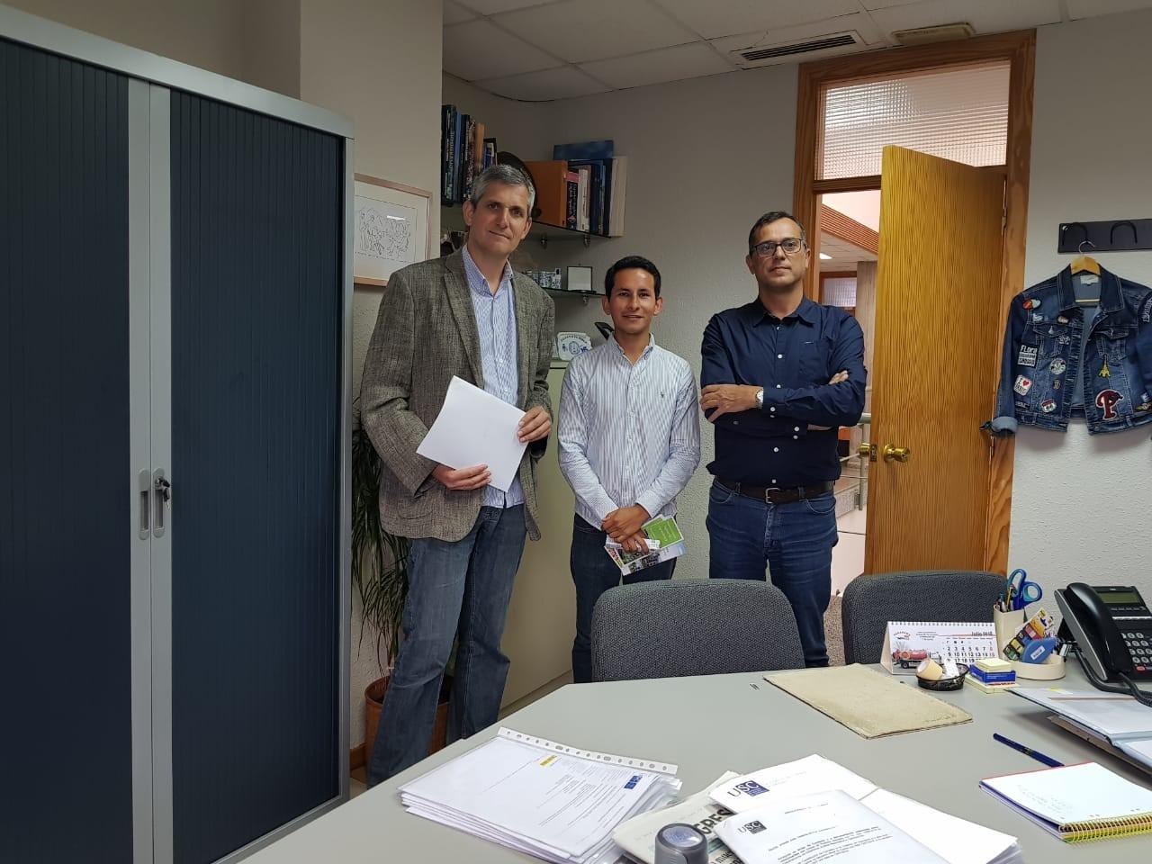 Visita del docente Juan Camilo Sánchez a la Universidad Santiago de Compostela, España