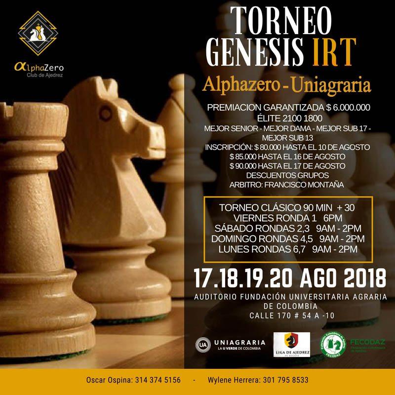 Torneo Génesis IRT Alphazero – Uniagraria