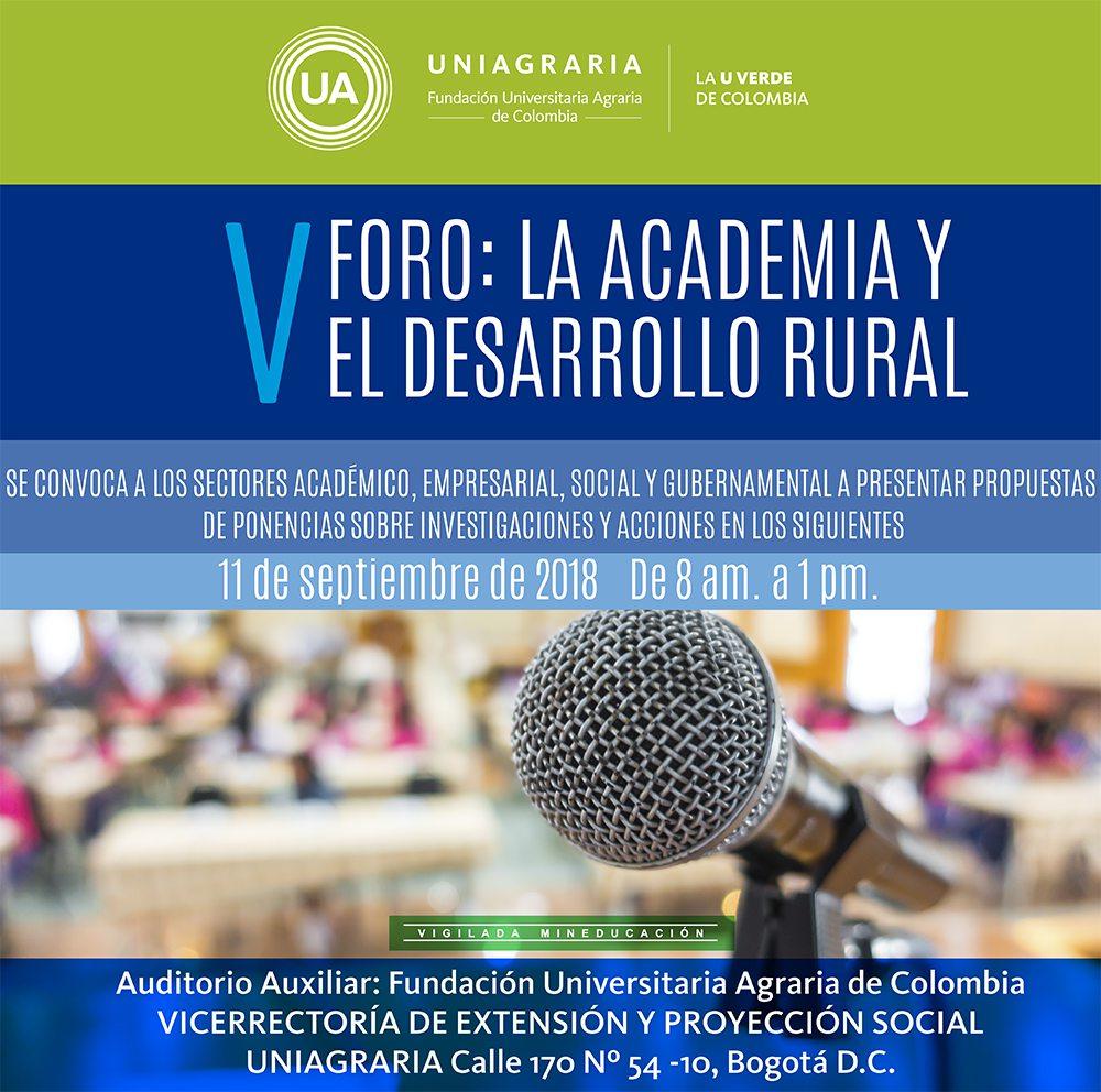 V Foro: La academia y el desarrollo rural