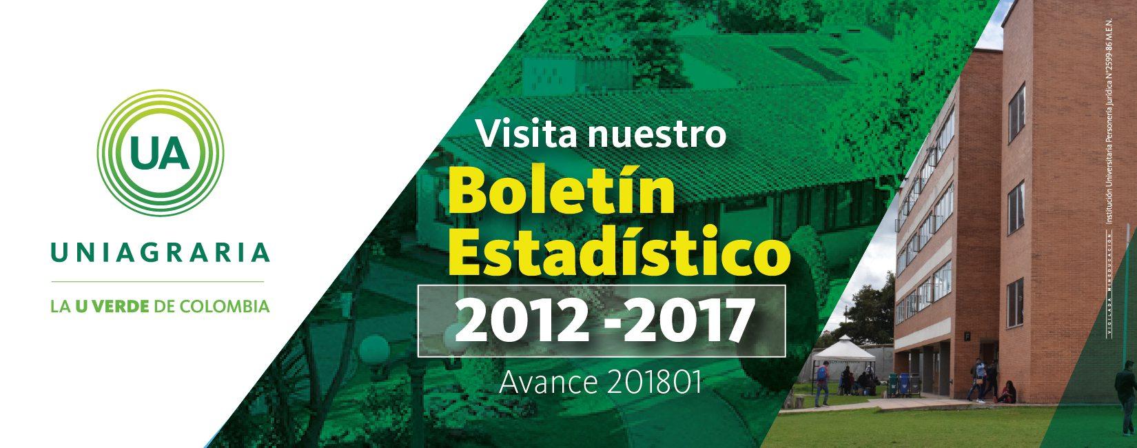 Visita nuestro boletín estadístico 2012-2017 (avance 2018-01)
