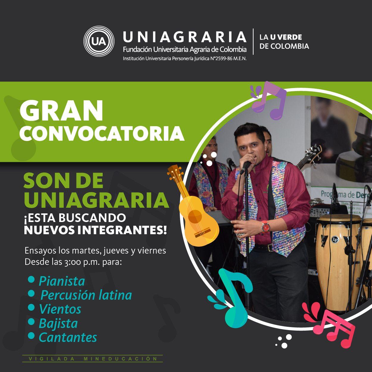 ¡Son de Uniagraria está buscando nuevos integrantes!