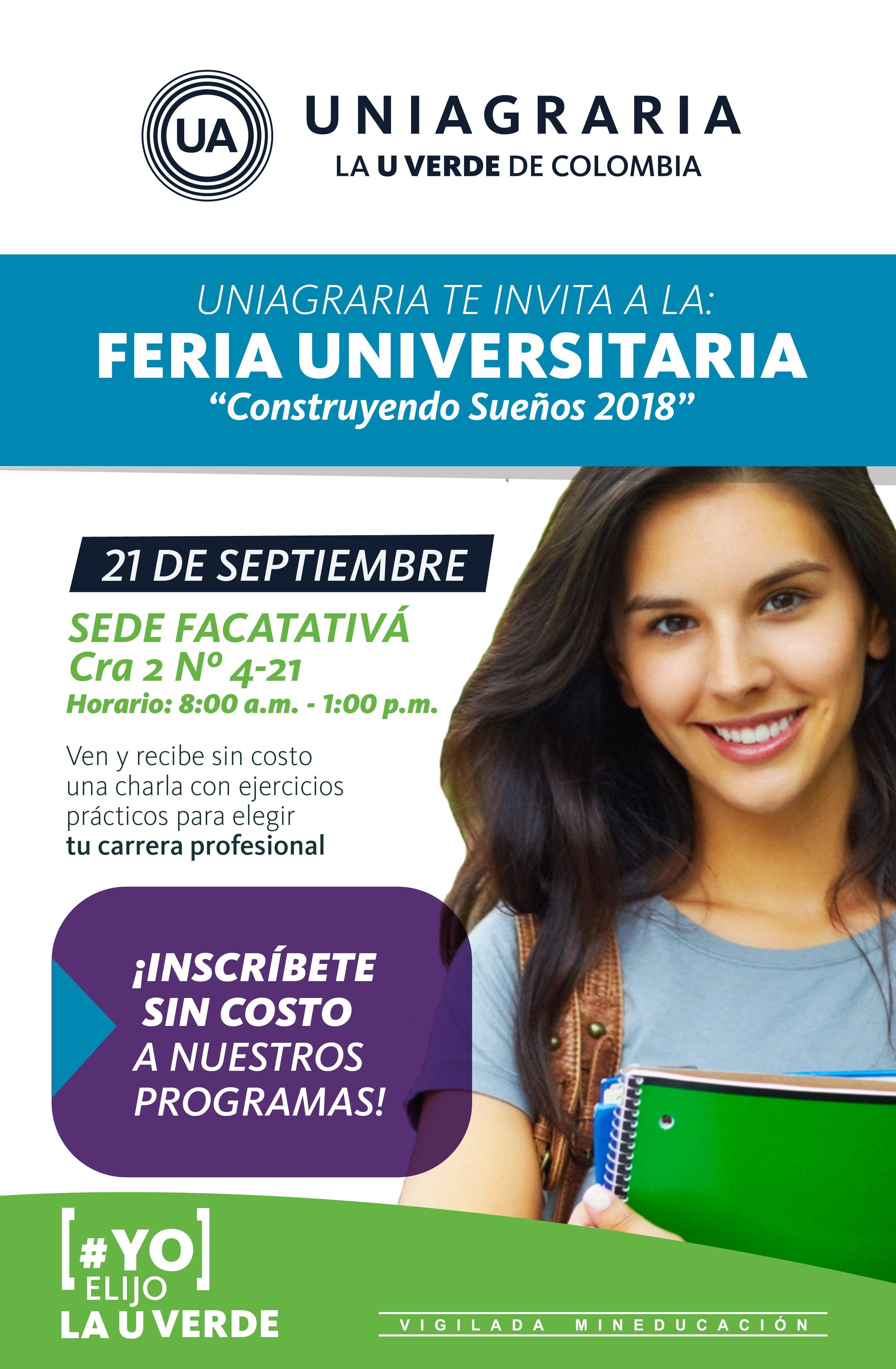 """Feria Universitaria """"Construyendo sueños 2018"""""""