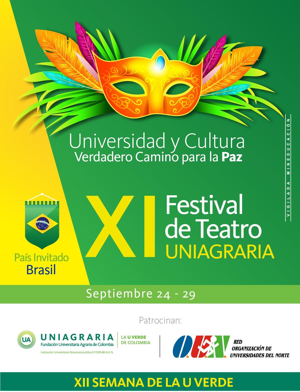 XI Festival de teatro universitario Uniagraria