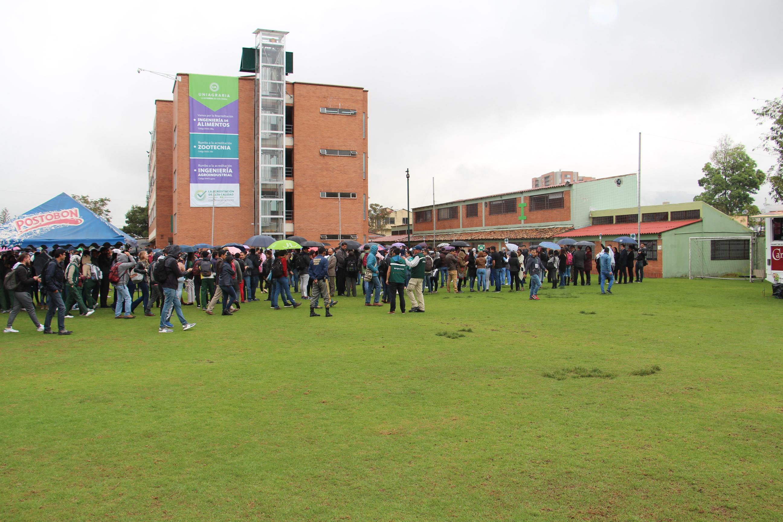 Exitoso simulacro de evacuación en Uniagraria