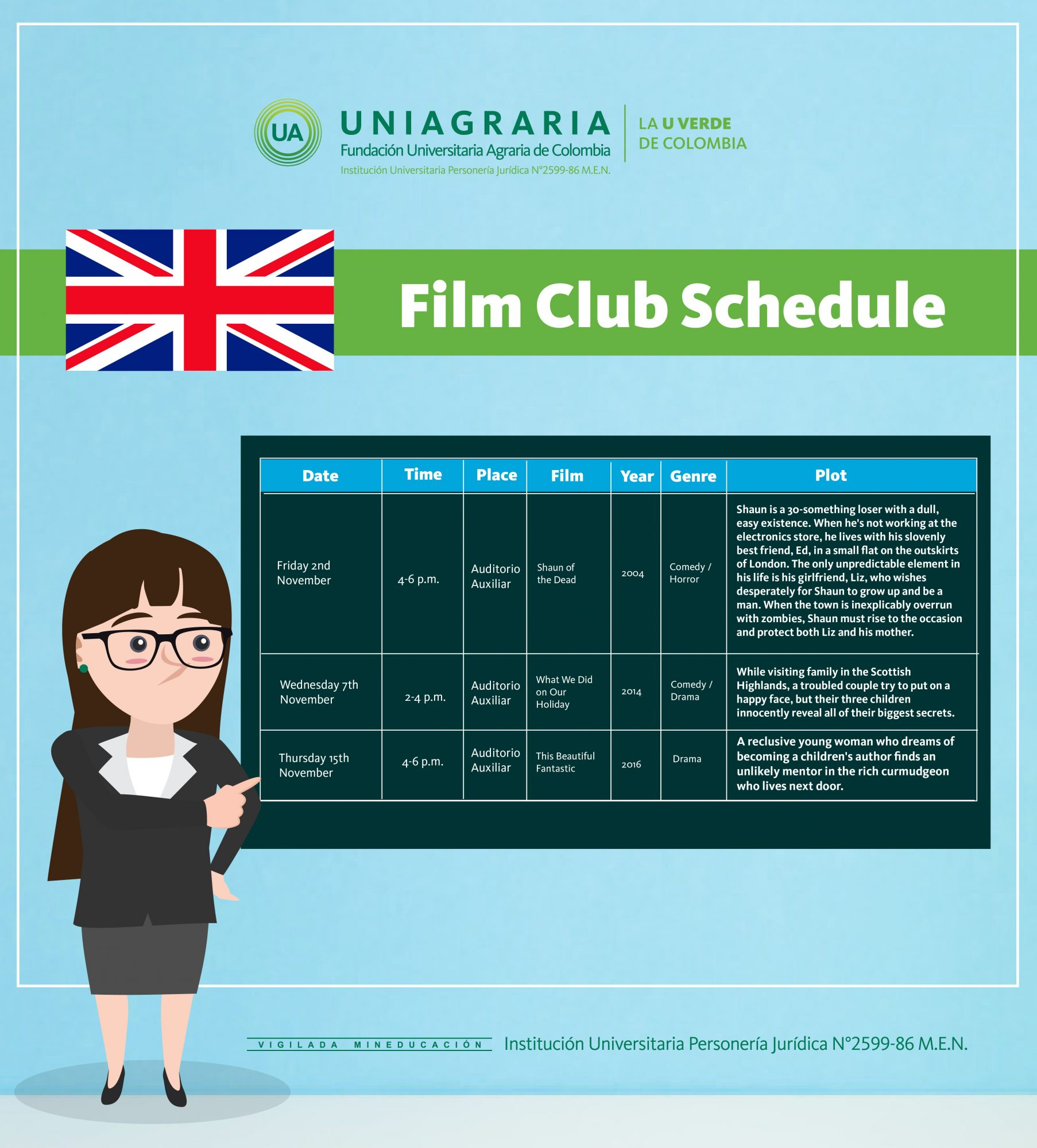 Film club schedule