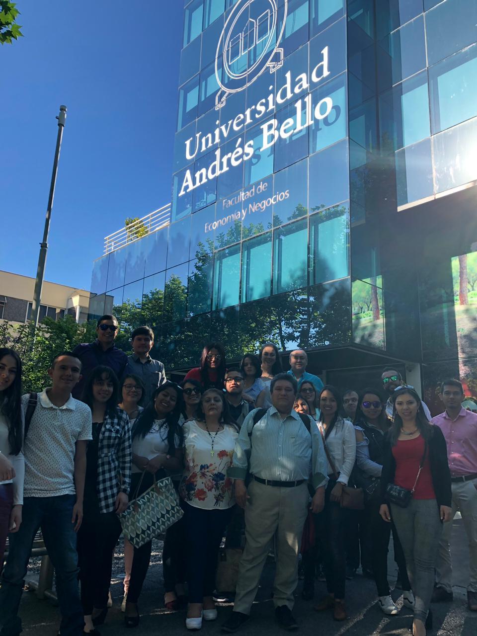 Misión académica de Uniagraria inicia actividades  en la universidad Andrés Bello en Chile