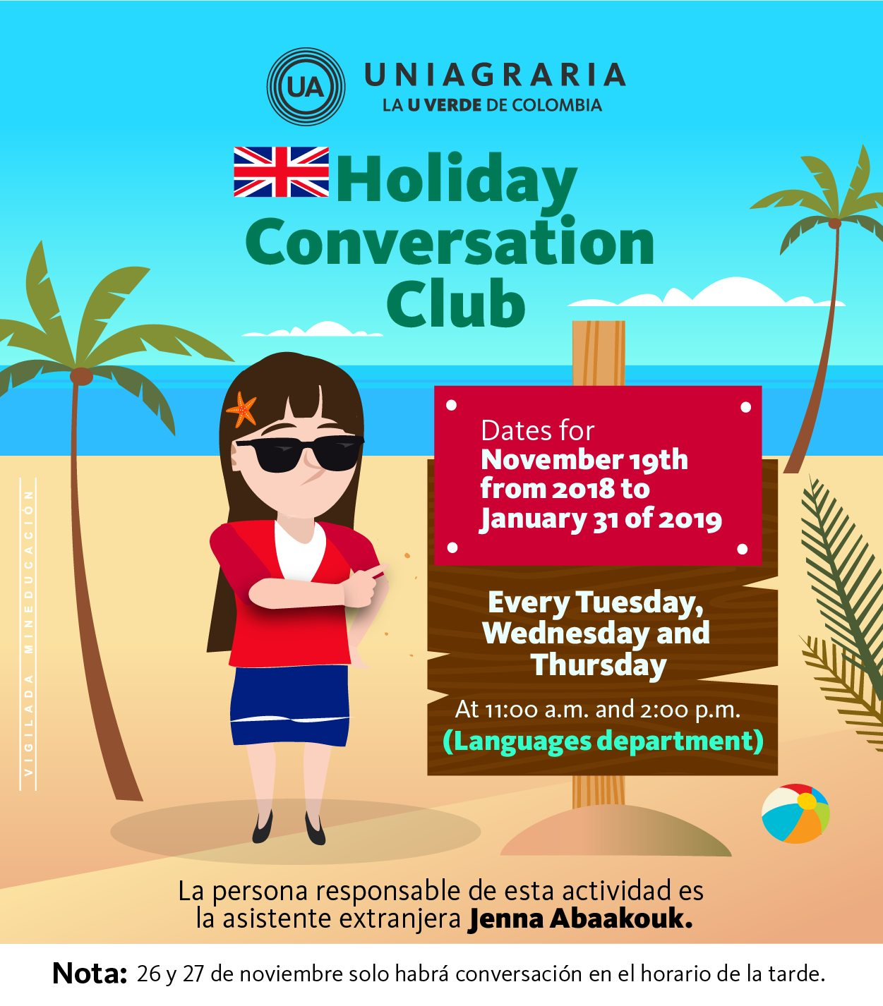 Holiday conversation club