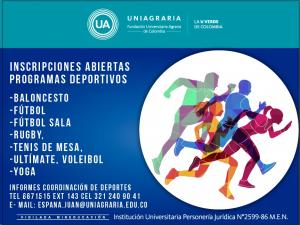 Inscripciones abiertas programas deportivos
