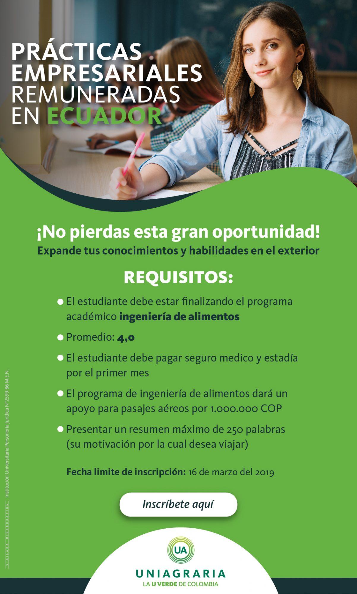Prácticas empresariales remuneradas en Ecuador