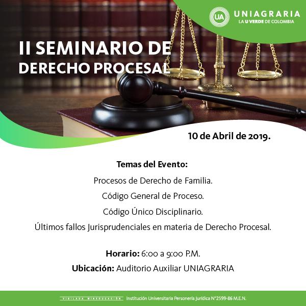 II Seminario de Derecho Procesal