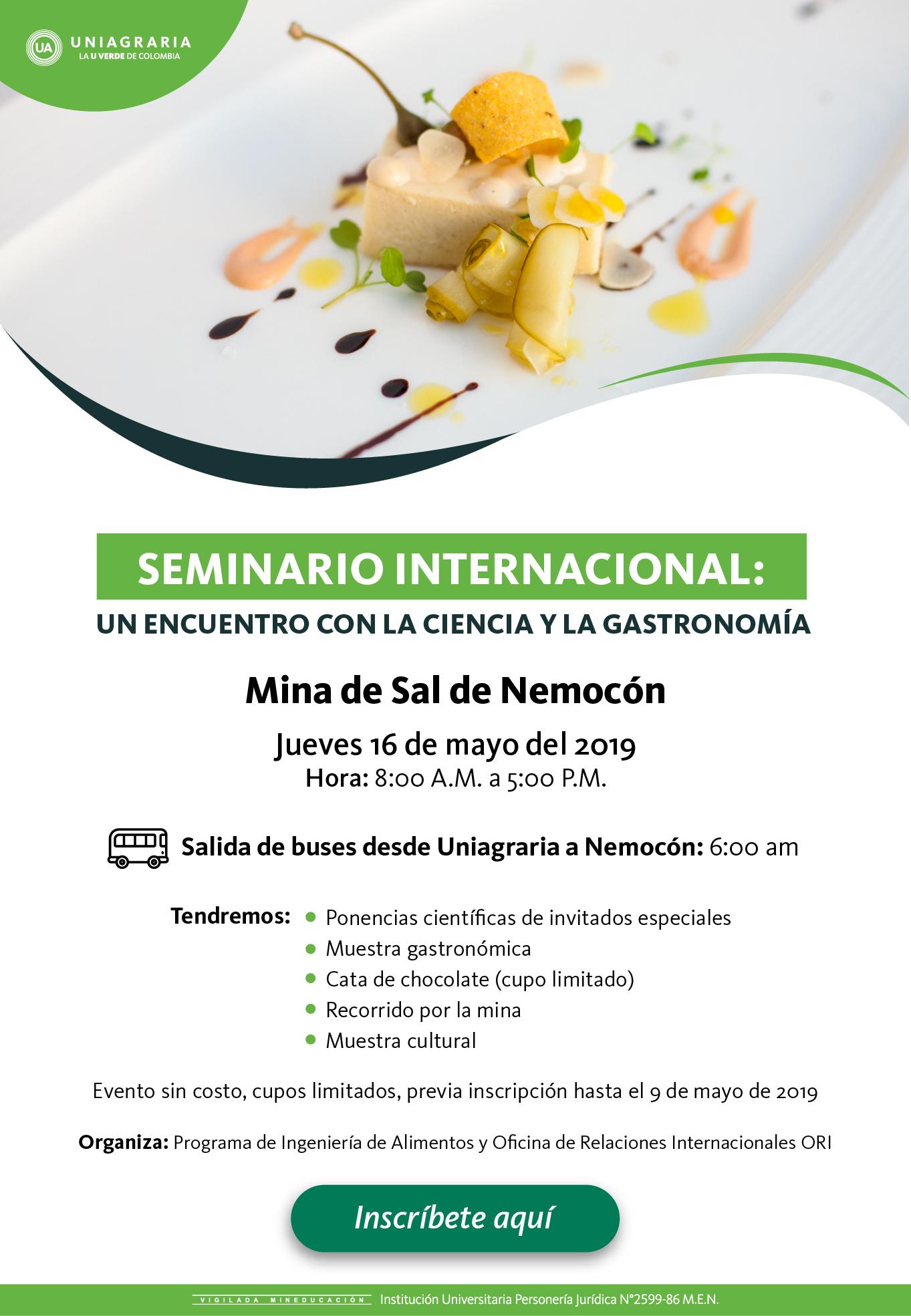 Seminario internacional: Un encuentro con la Ciencia y la Gastronomía