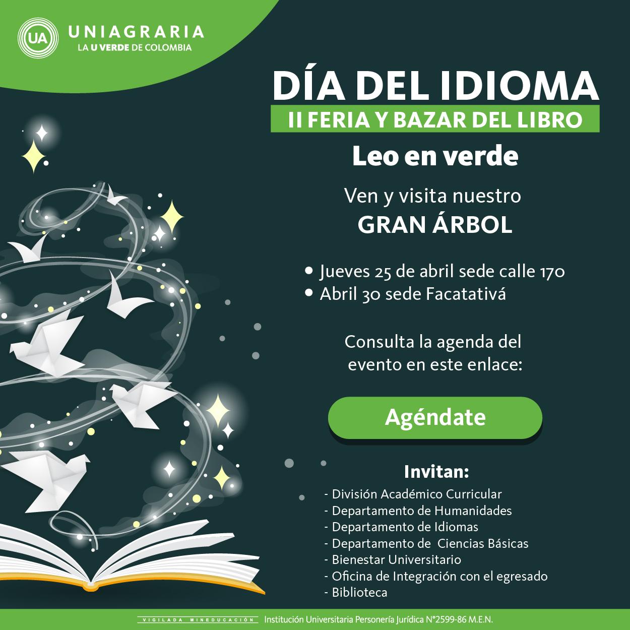 DÍA DEL IDIOMA II FERIA Y BAZAR DEL LIBRO