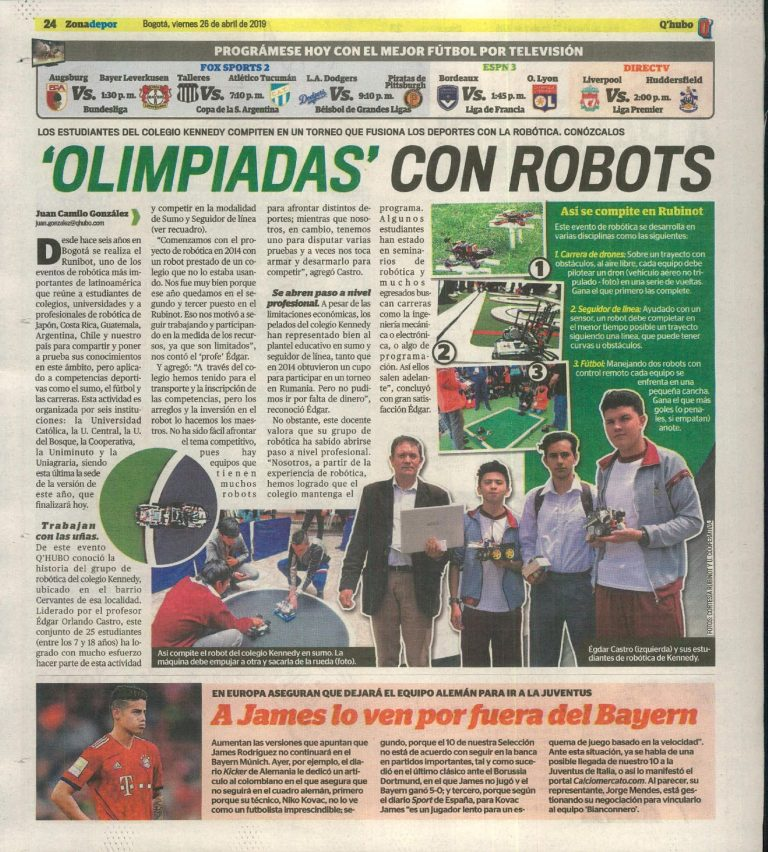 'Olimpiadas' con Robots. #UAenmedios
