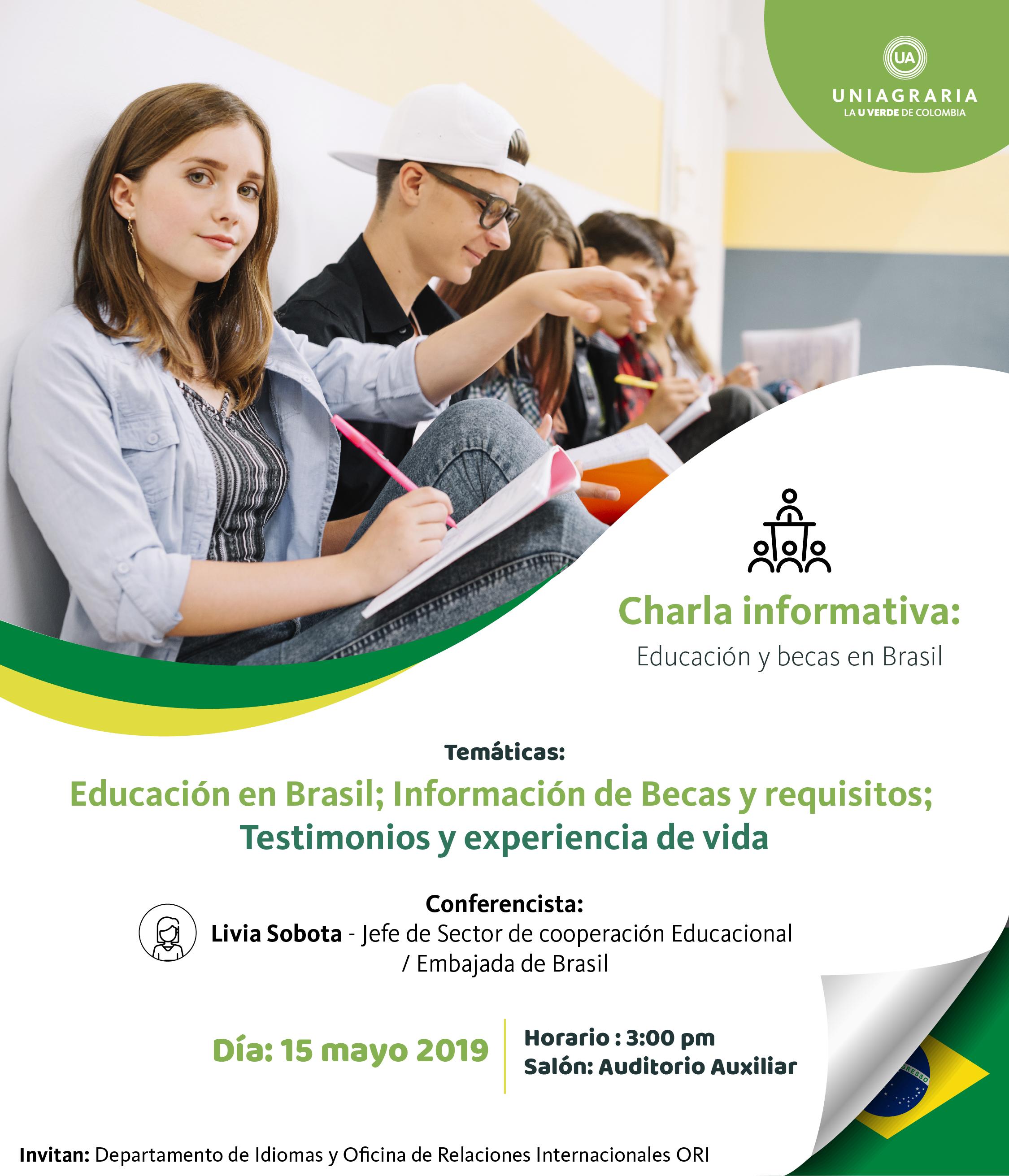 Charla informativa: Educación y becas en Brasil