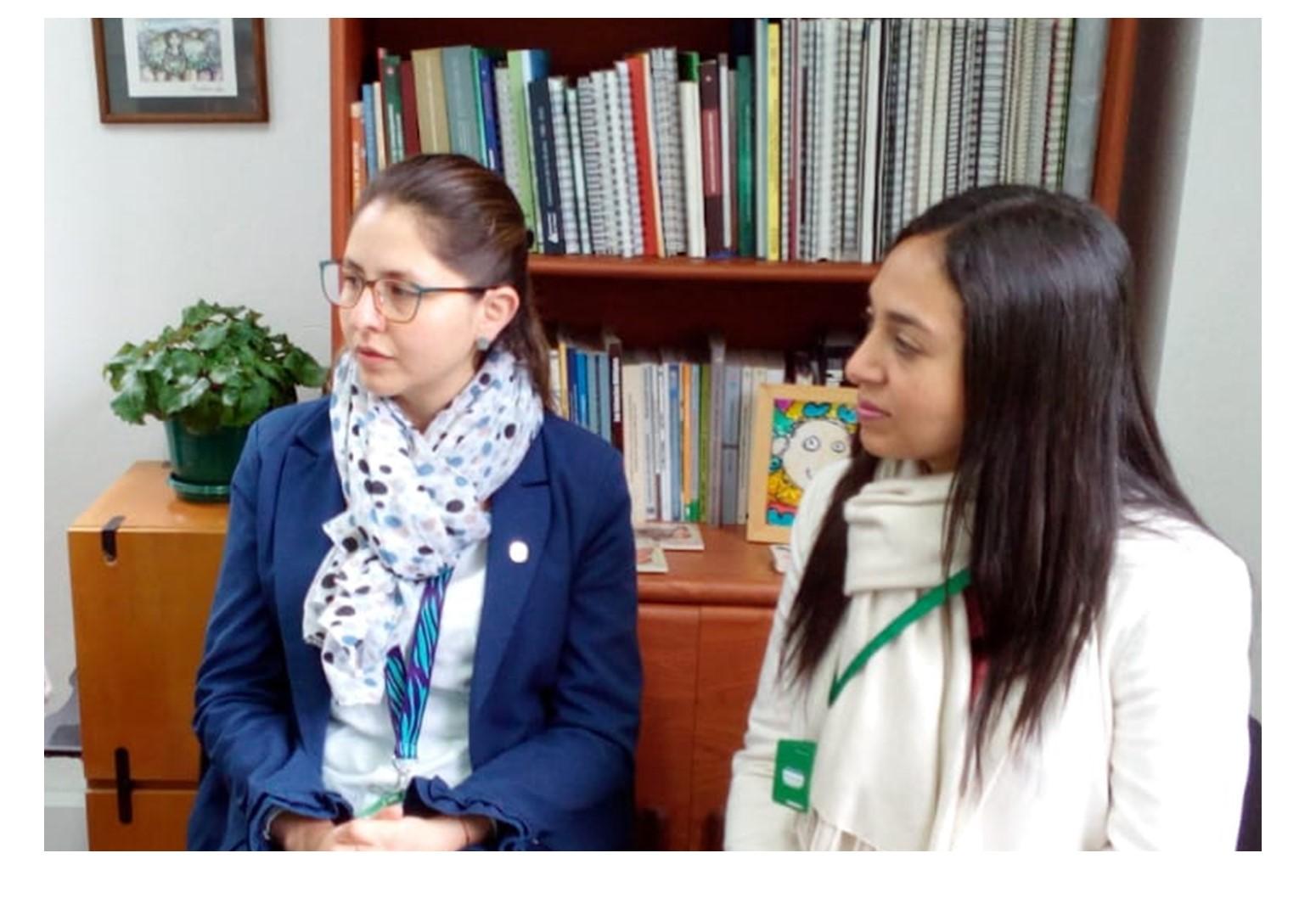 Jhoana Colina y Luisa Rivera