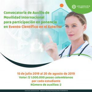 Convocatoria de Auxilio de Movilidad Internacional para participación en ponencia en Evento Científico en el Exterior