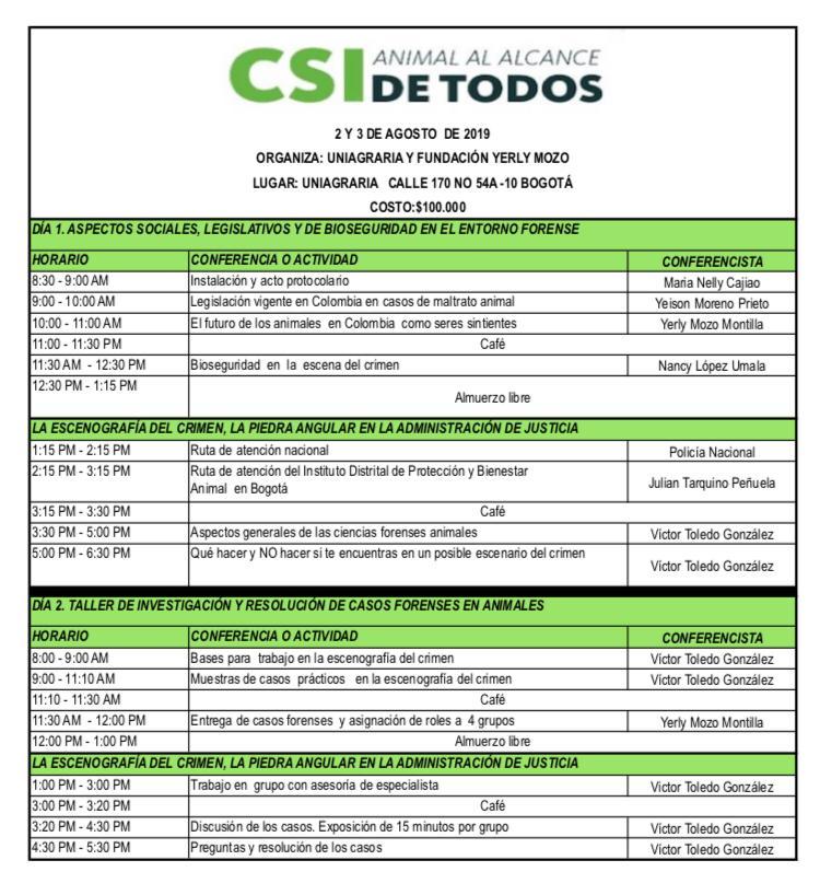 CSI ANIMAL AL ALCANCE DE TODOS