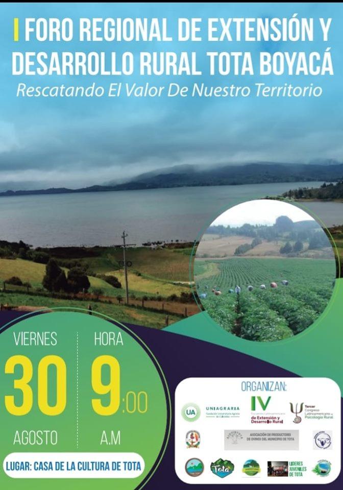 I Foro regional de extensión y desarrollo rural Tota Boyacá