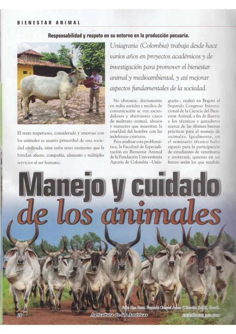 Manejo y cuidado de los animales. #UAenmedios