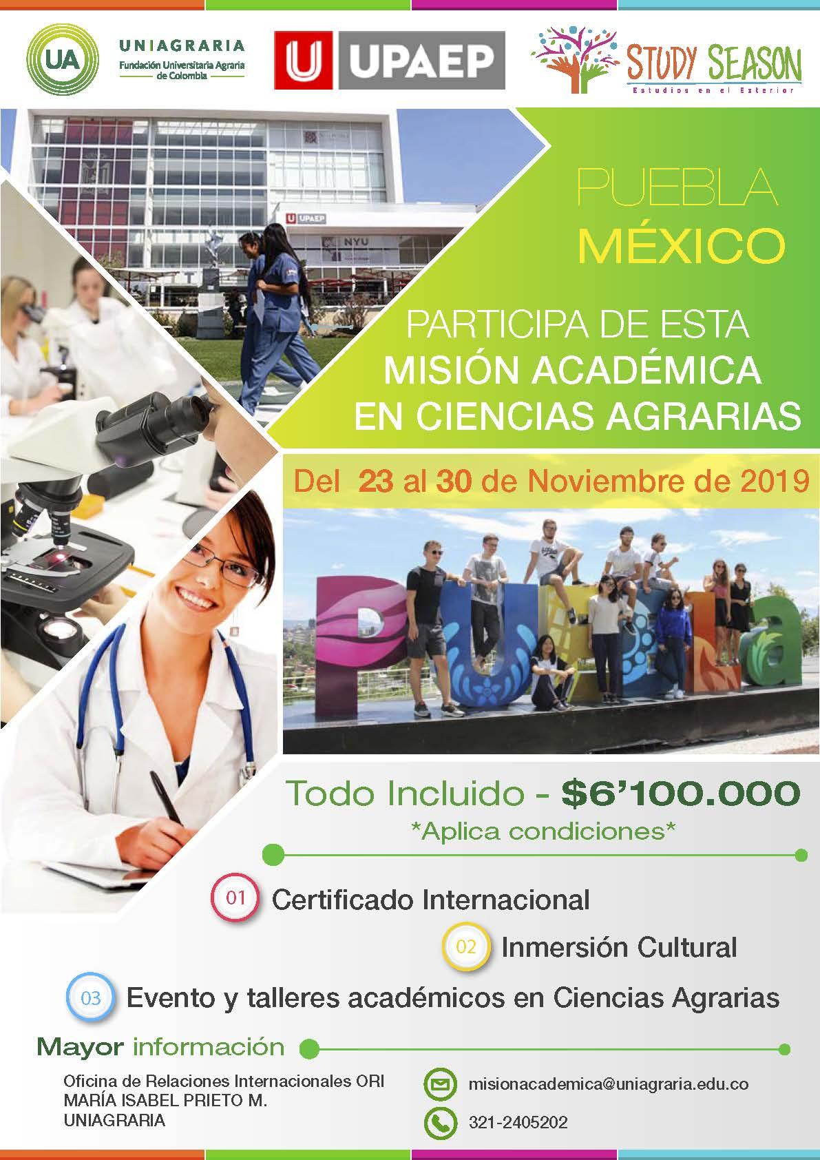 Misión académica para Ingenierías – Puebla Mexico