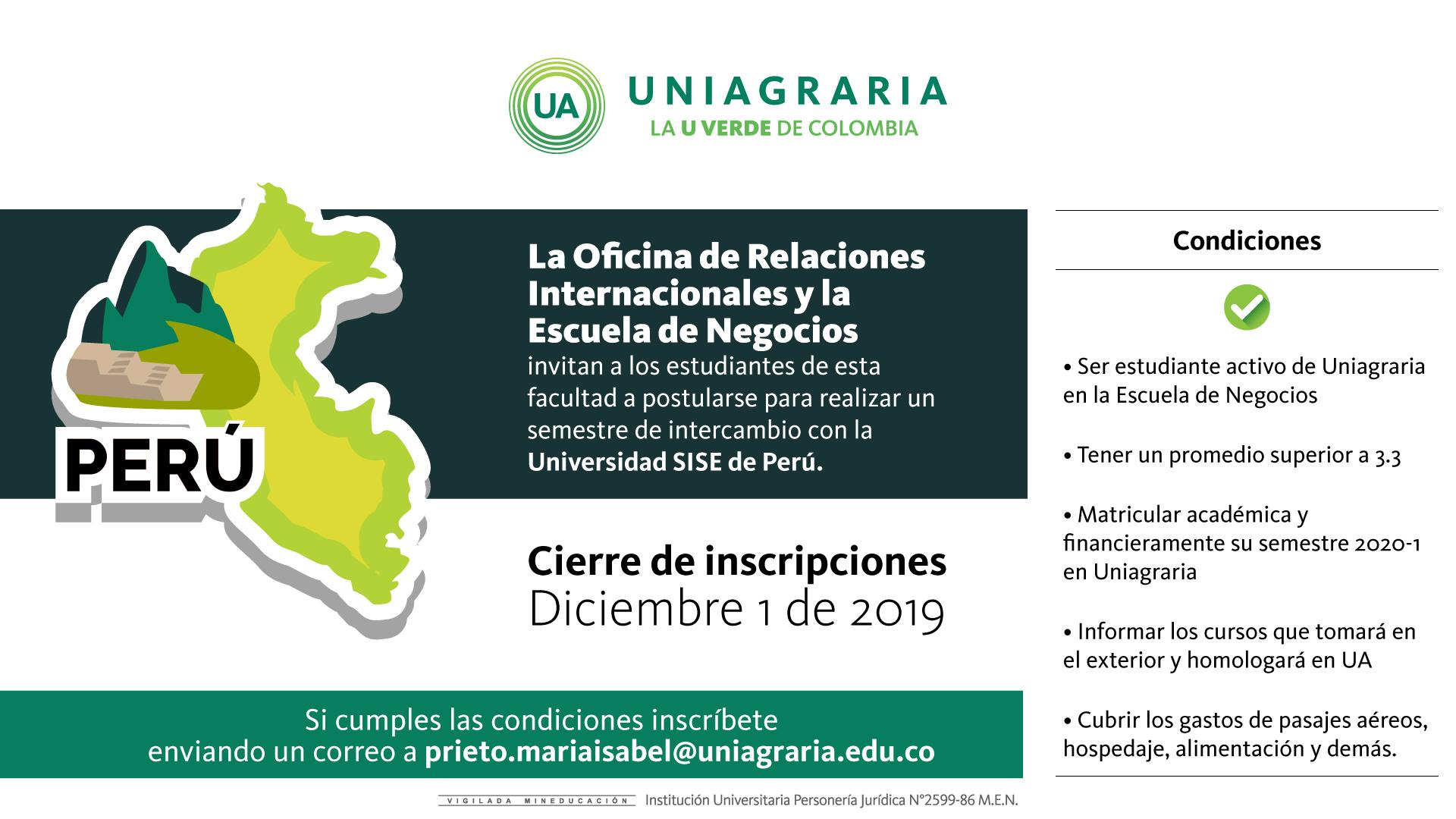 Semestre de intercambio con la Universidad SISE de Perú