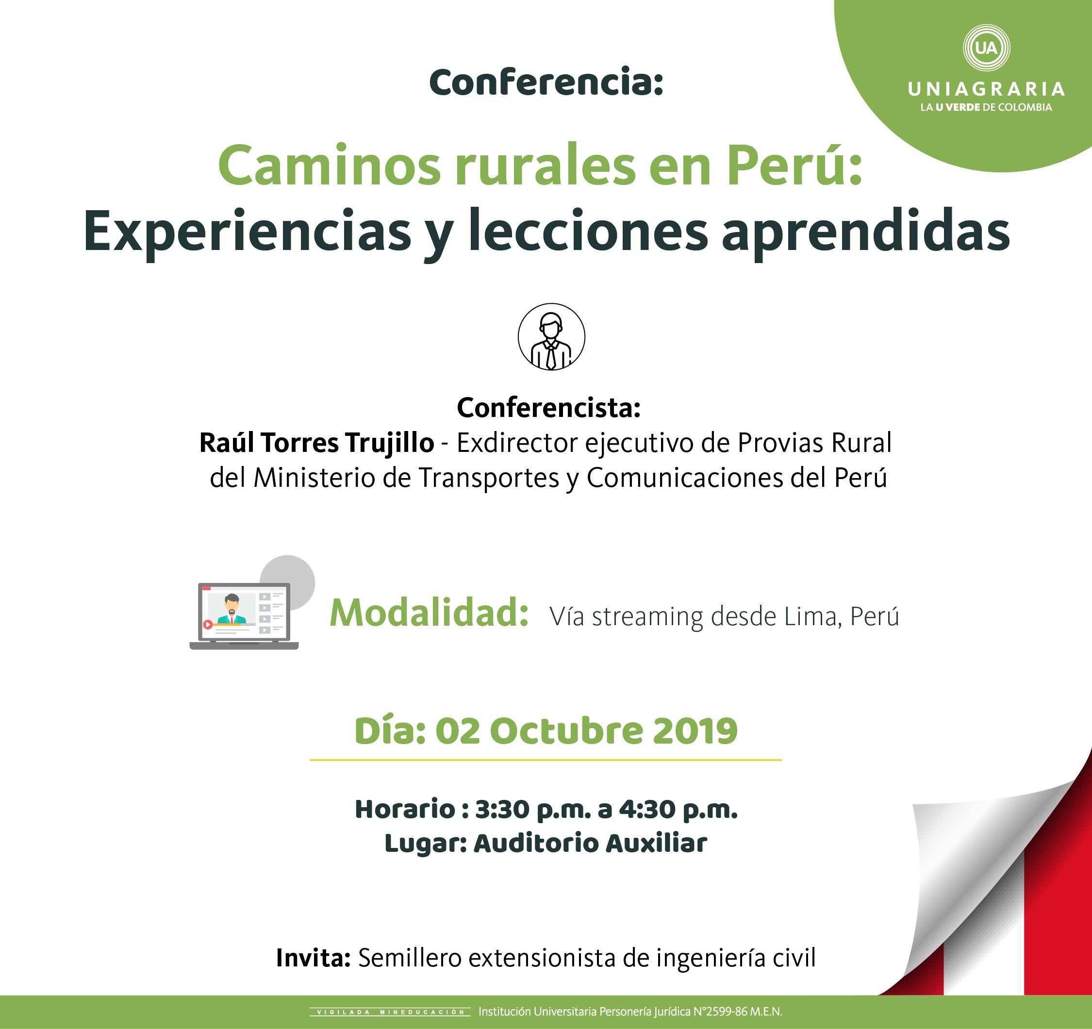 Caminos rurales en Perú: Experiencias y lecciones aprendidas