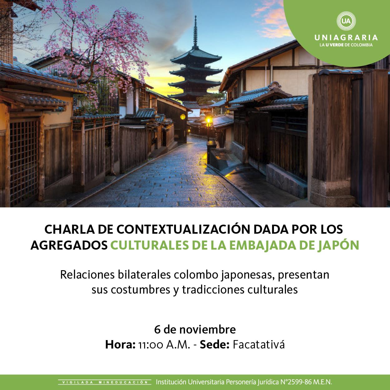 Charla de contextualización dada por los agregados culturales de la embajada de Japón