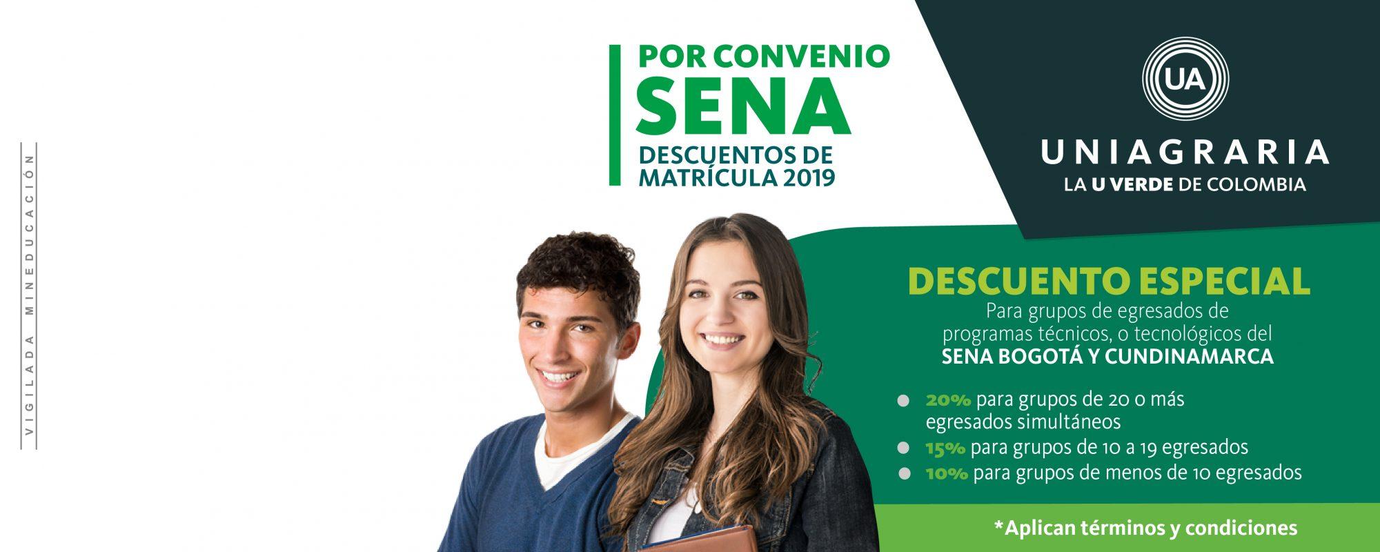 Descuentos de matrícula 2019 – Convenio SENA