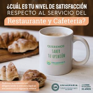Encuesta satisfacción servicio de restaurante y cafetería ☕