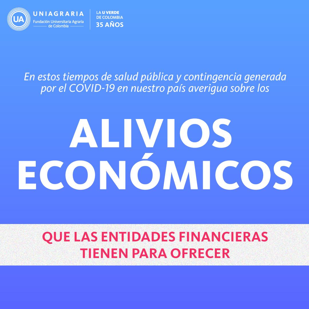 Alivios económicos – entidades financieras
