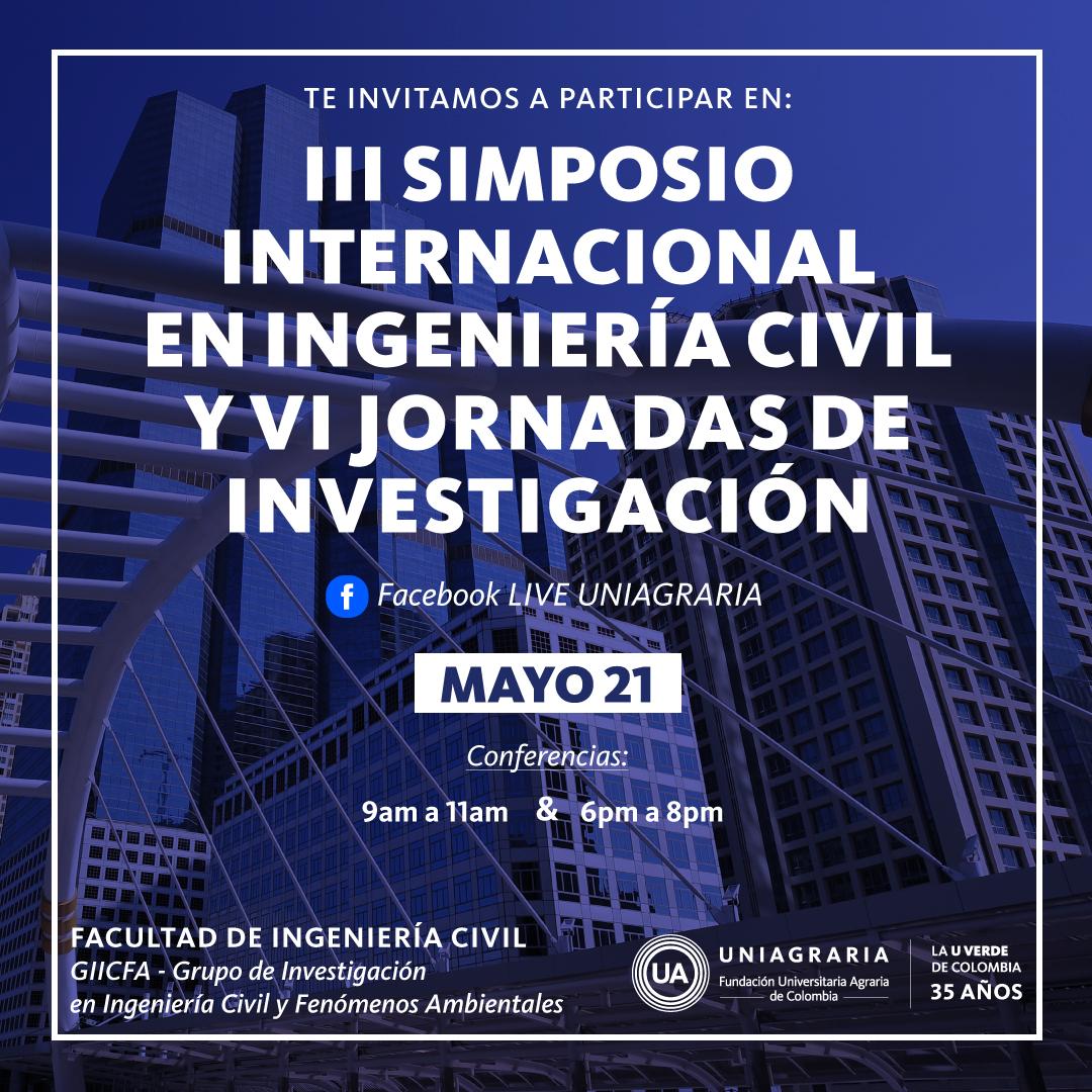 lll Simposio Internacional en Ingeniería Civil y Vl Jornadas de Investigación