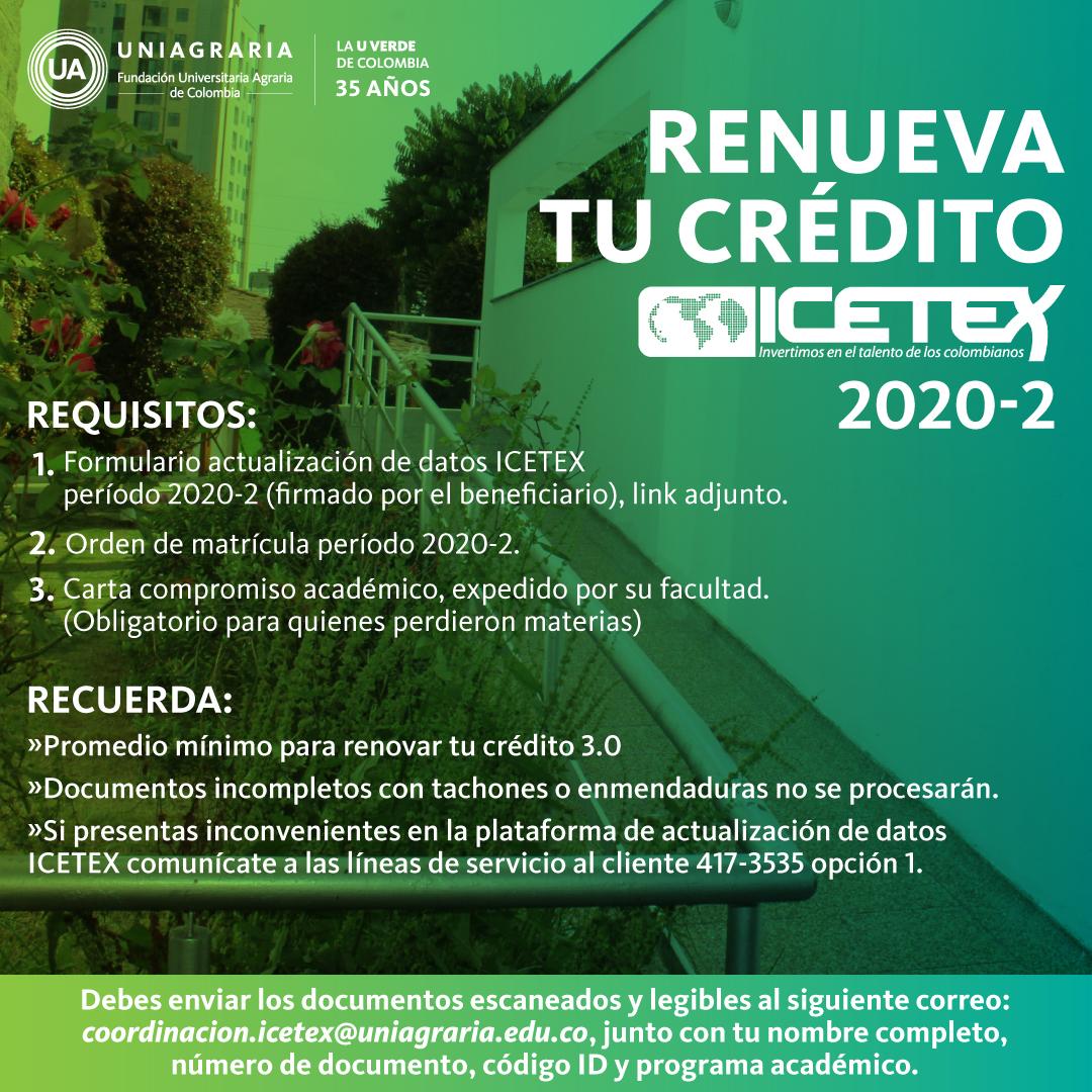 Renueva tu crédito ICETEX 2020 – 2
