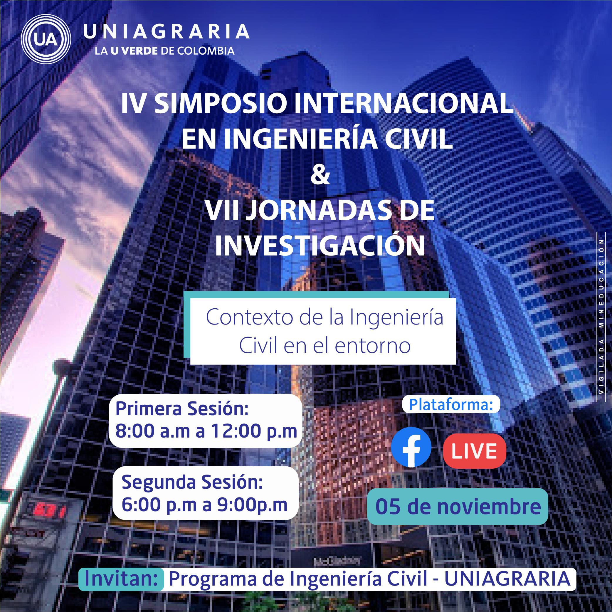 lV Simposio internacional en Ingeniería Civil & Vll jornadas de investigación