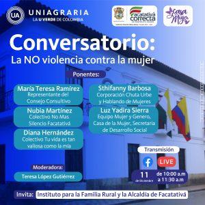 Conversatorio: La NO violencia contra la mujer