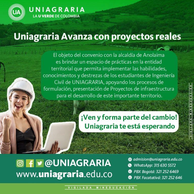 Uniagraria avanza con proyectos reales en beneficio del desarrollo rural