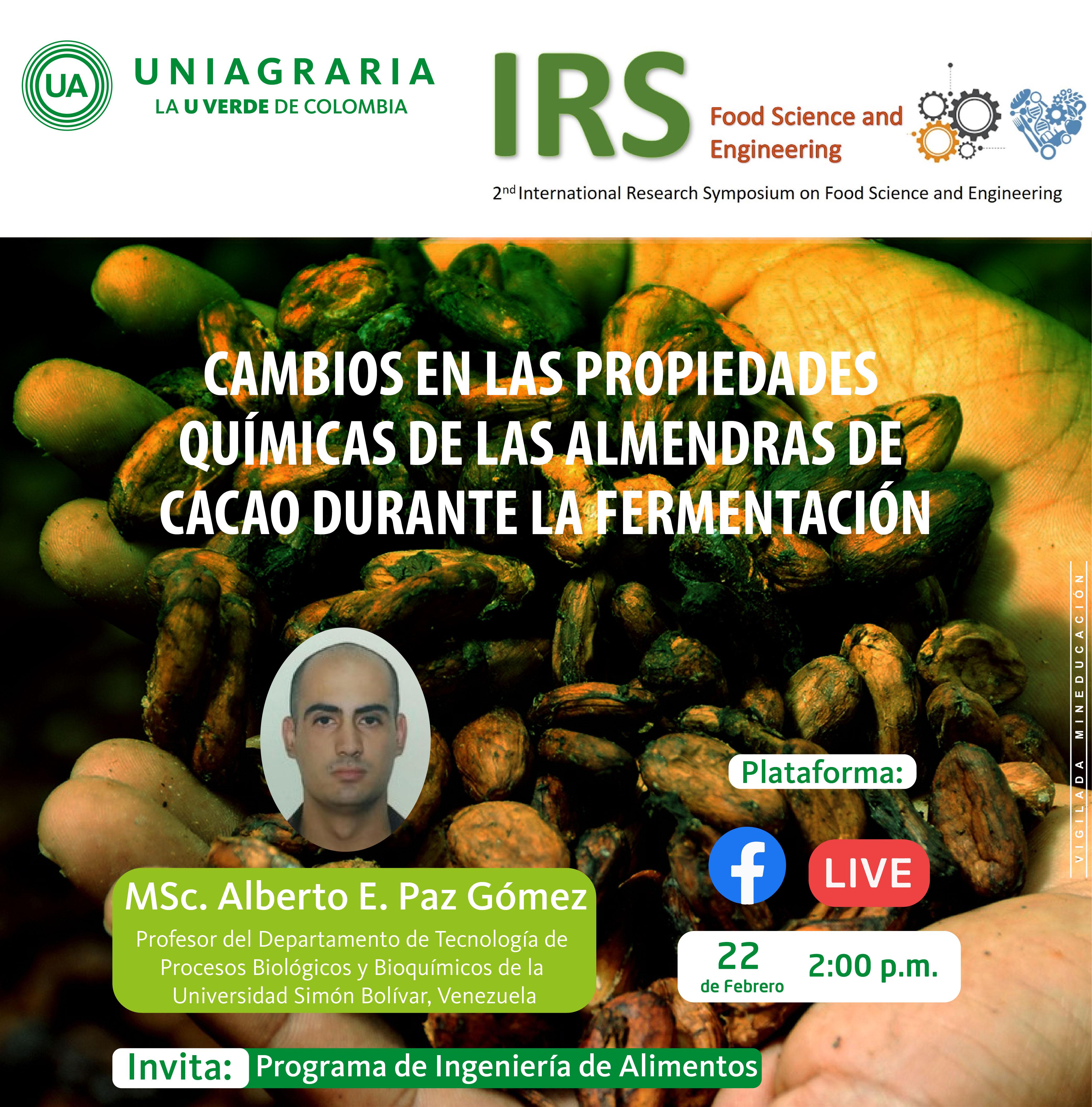 Cambios en las propiedades químicas de las almendras de cacao durante la fermentación