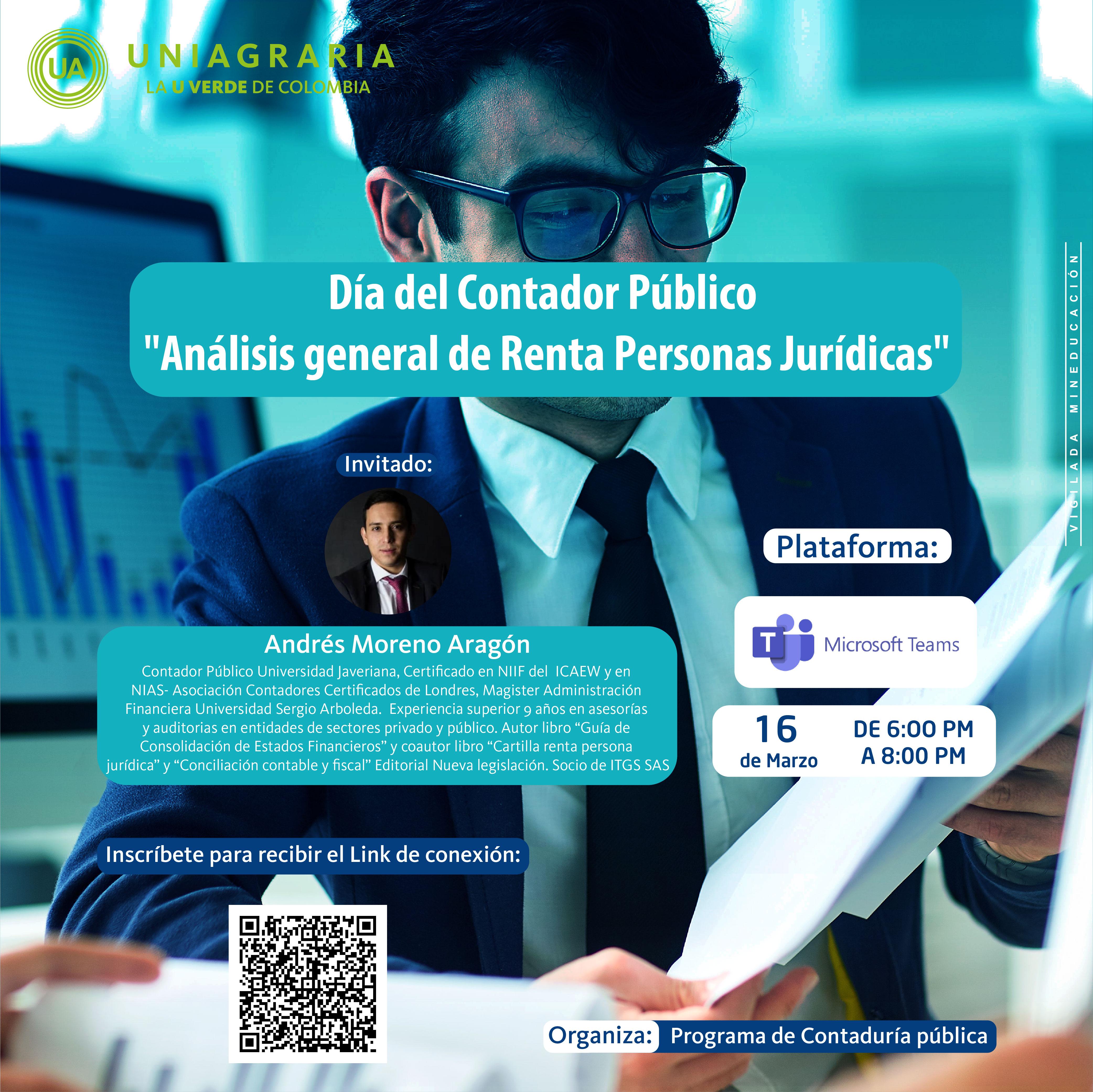 """Día de contador Público """"Análisis general de Renta Personas Jurídicas"""""""