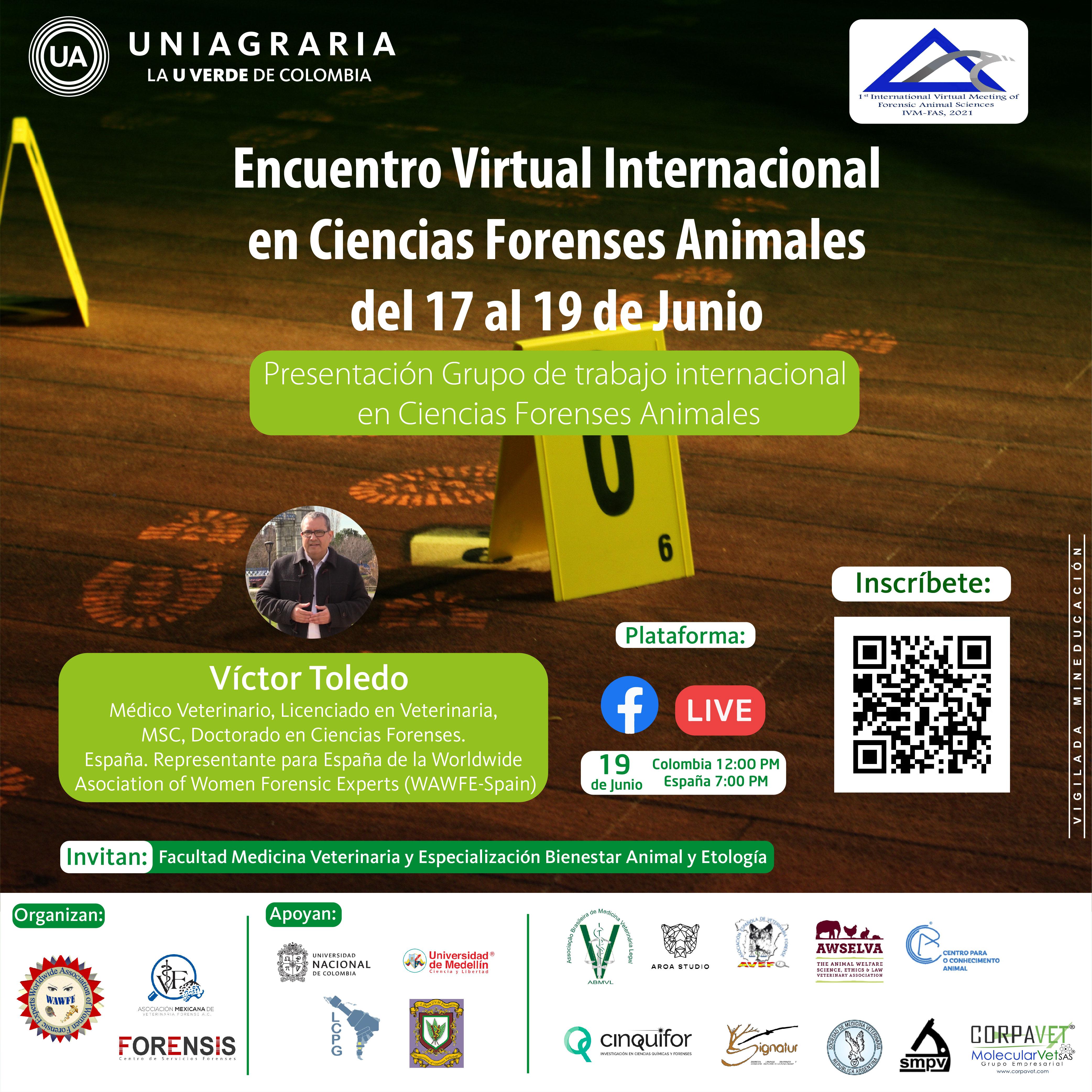 Encuentro Virtual Internacional en Ciencias Forenses Animales