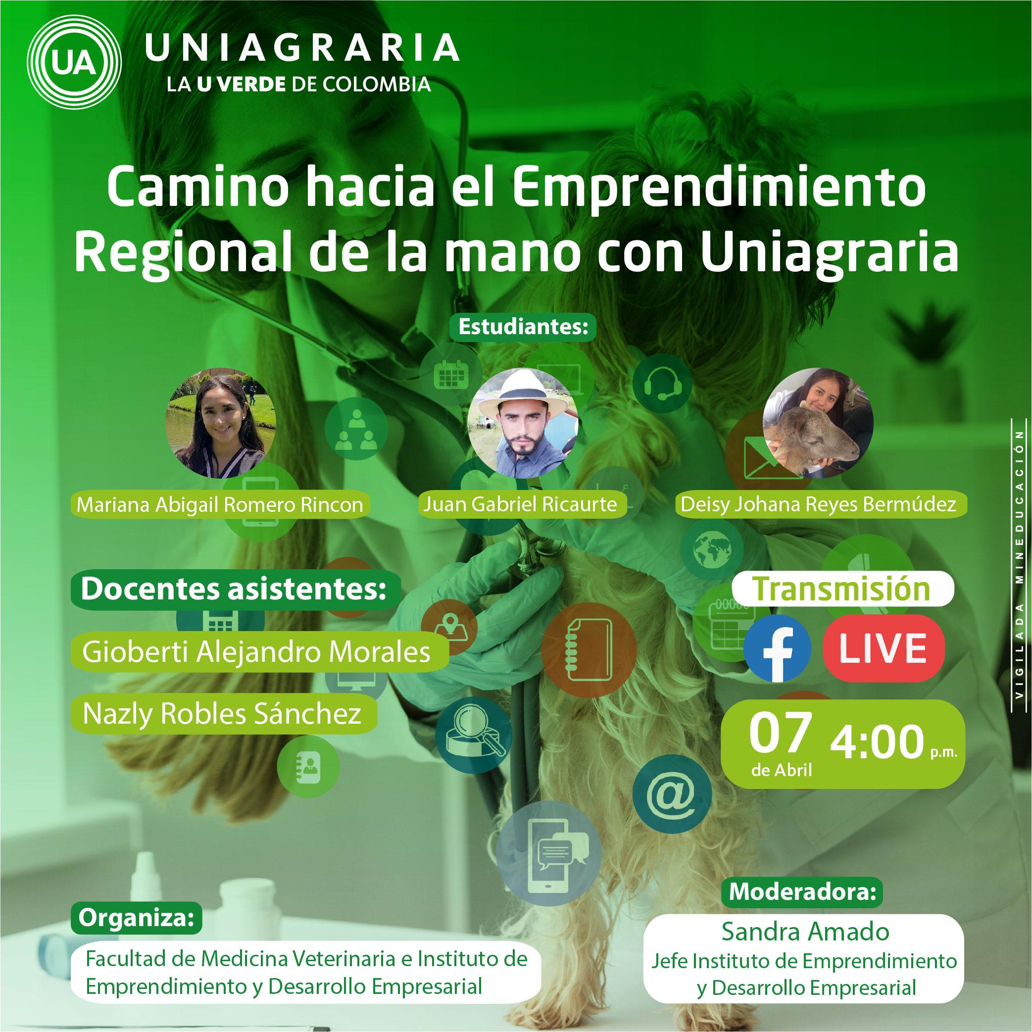 Camino hacia el Emprendimiento Regional de la mano con Uniagraria