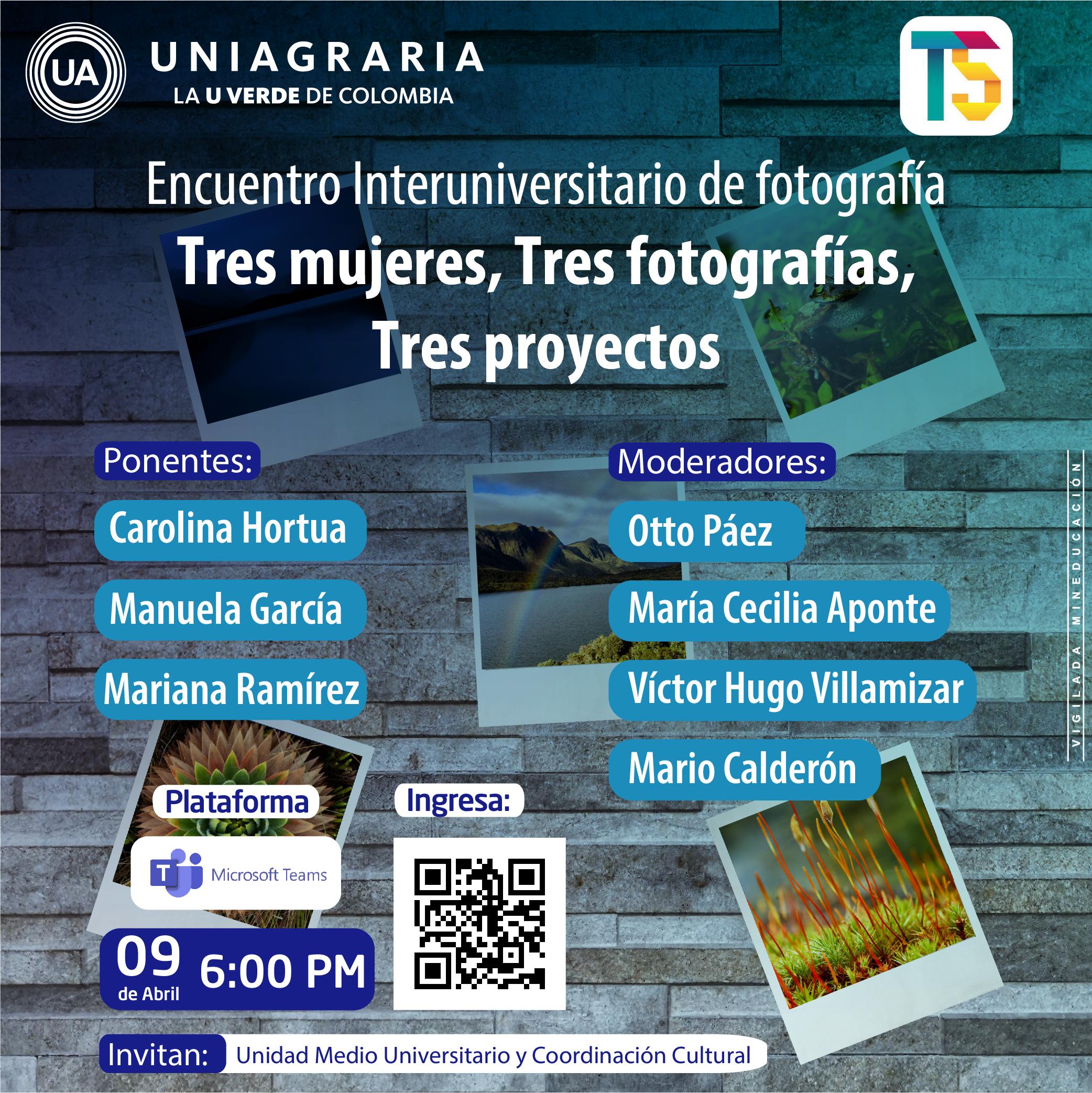 Encuentro Interuniversitario de fotografía: Tres mujeres, Tres fotografías, Tres proyectos